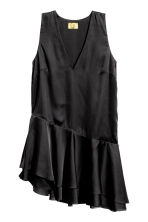 Satin tunic - Black - Ladies | H&M CN 2